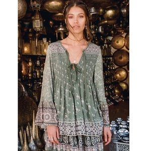 Spell & The Gypsy Lionheart Blouse Olive Size S
